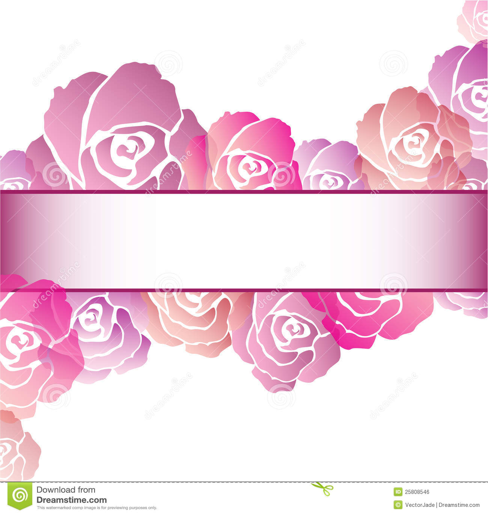 Pink Rose Frame Background Royalty Free Stock Image - Image: 25808546