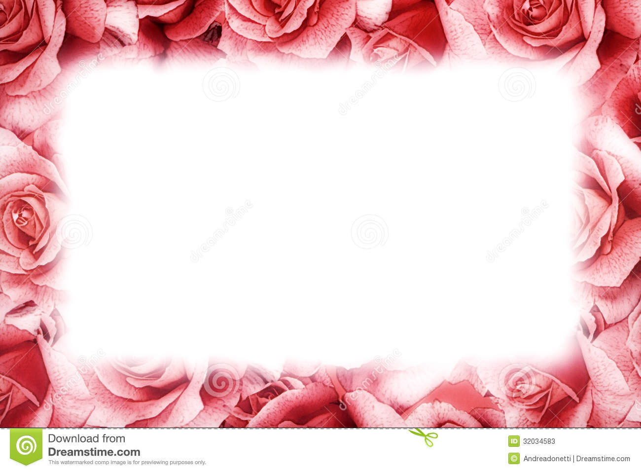 Pink Rose Frame Stock Photos - Image: 32034583
