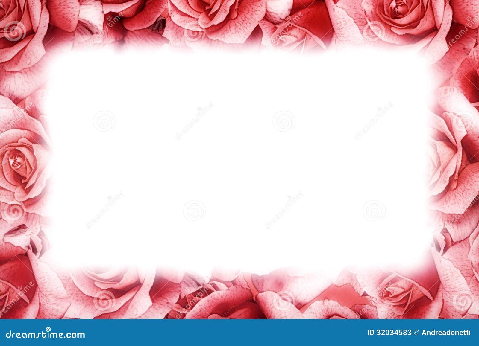 Pink Rose Frame Stock Photos Image 32034583
