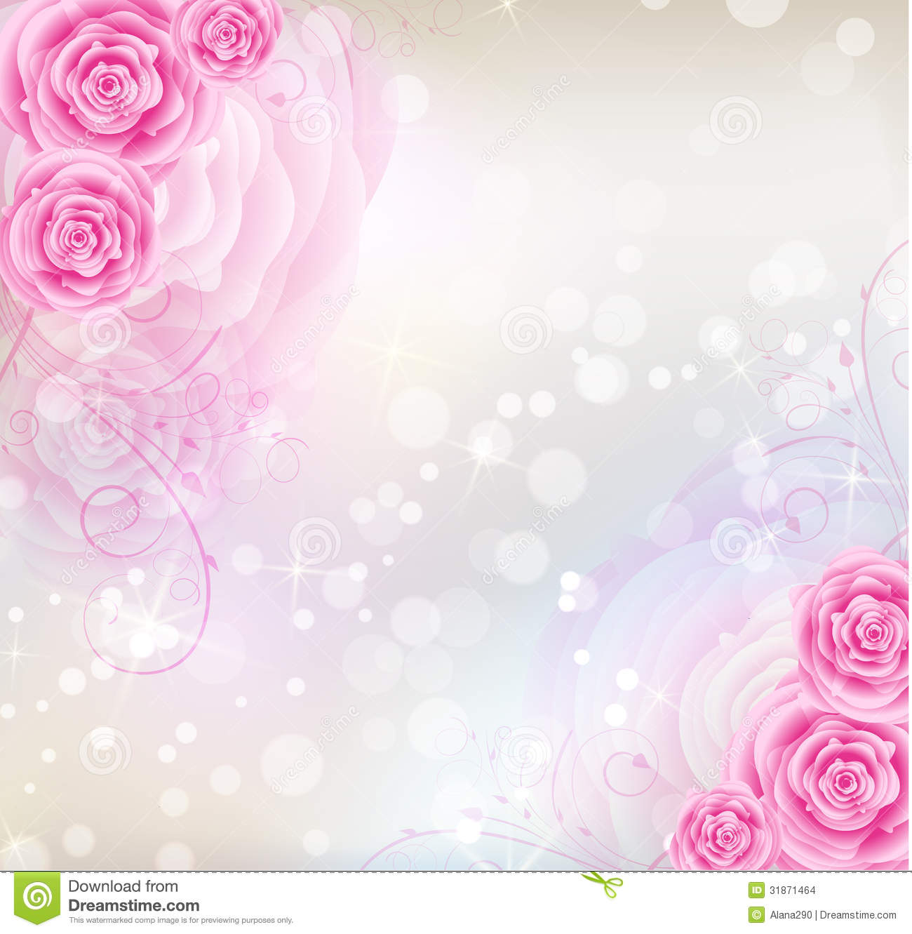 swirly roses background bouquet - photo #13
