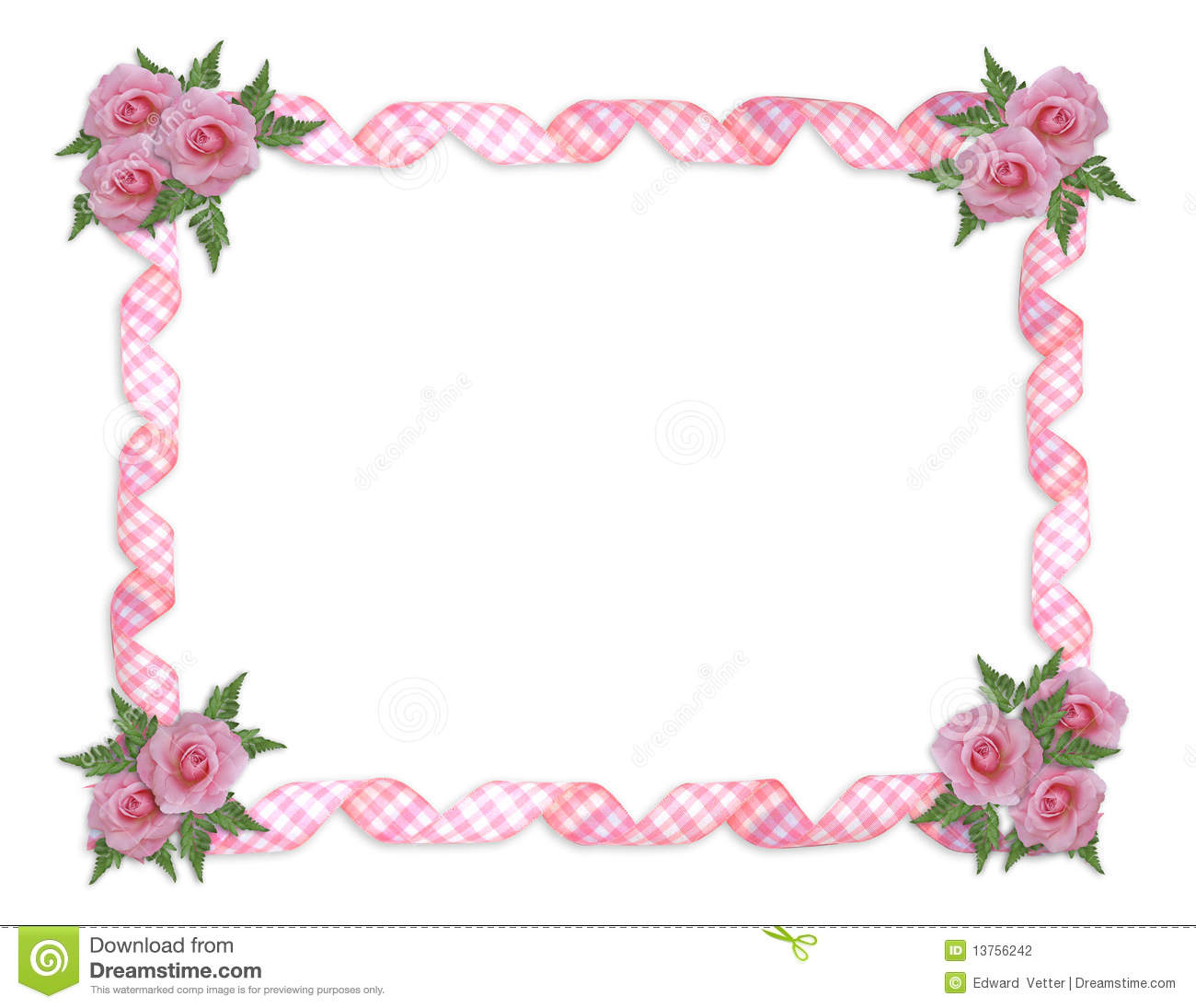 Pink Roses Border Stock Photography - Image: 13756242
