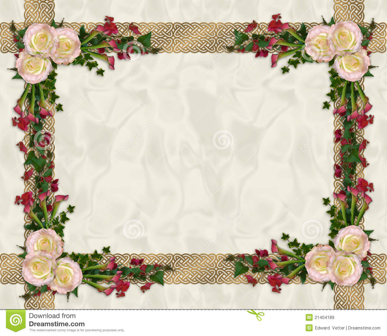 Pink roses exotic floral border royalty free stock images image