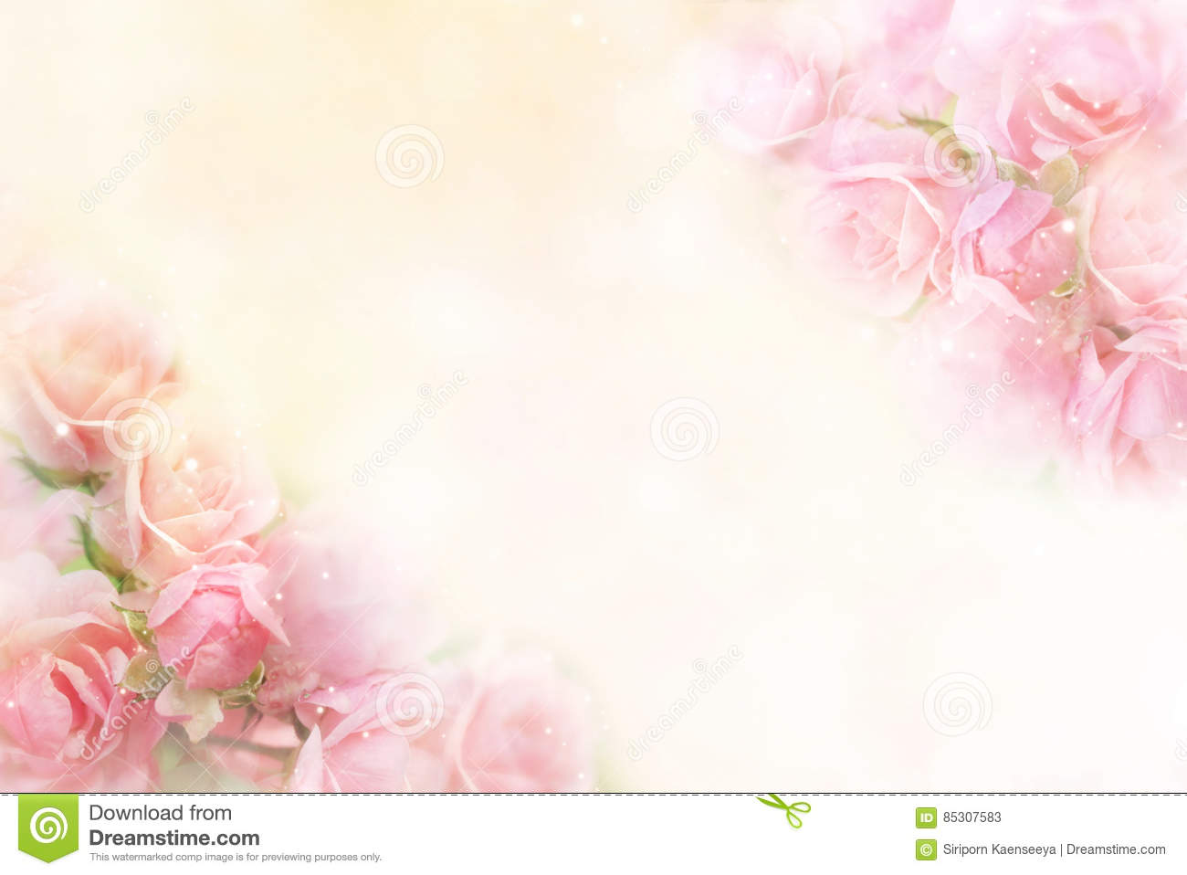Download Pink Roses Flower Border Soft Background For Valentine Stock Image - Image of pastel, roses: 85307583