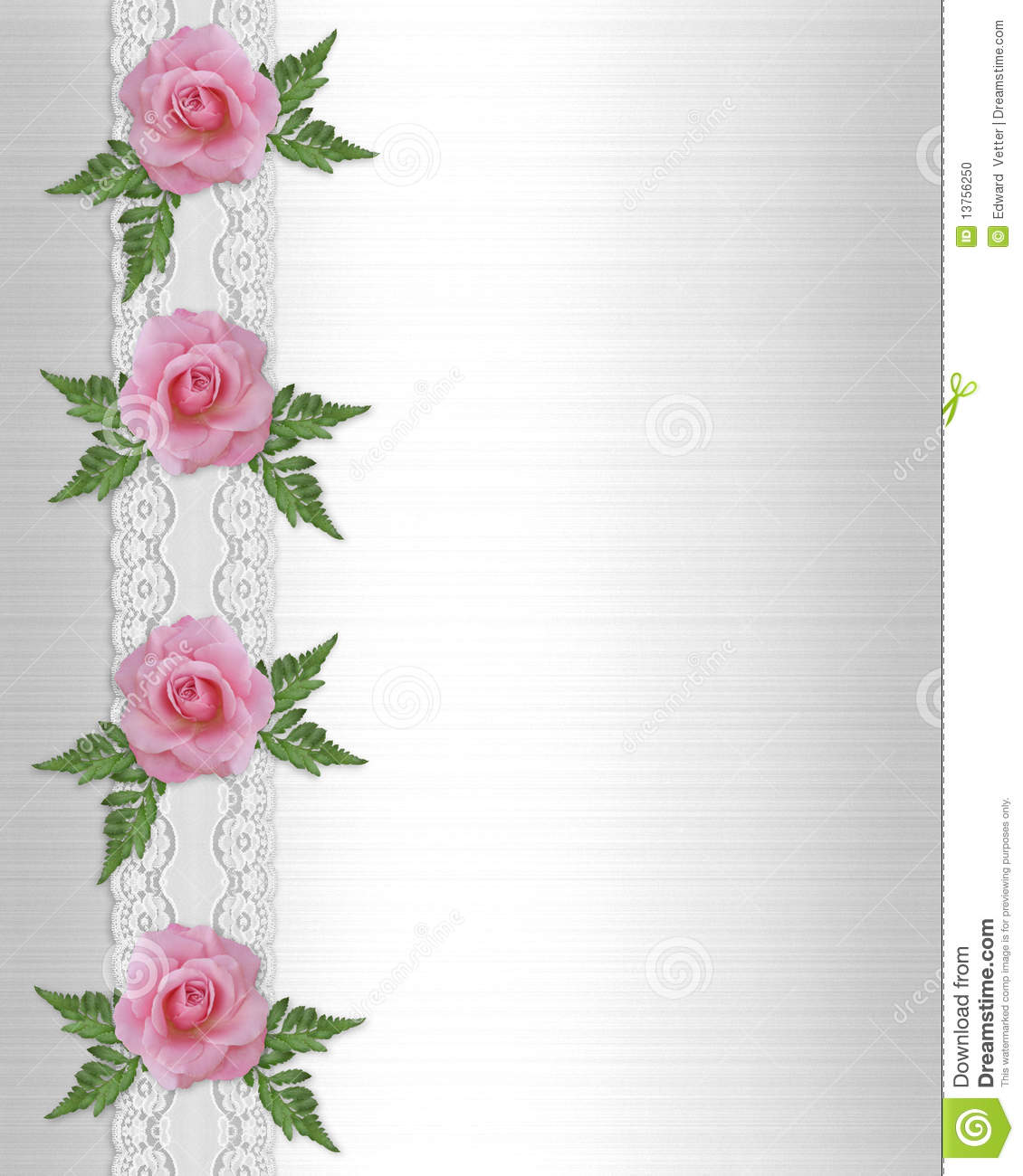 Pink roses and lace border