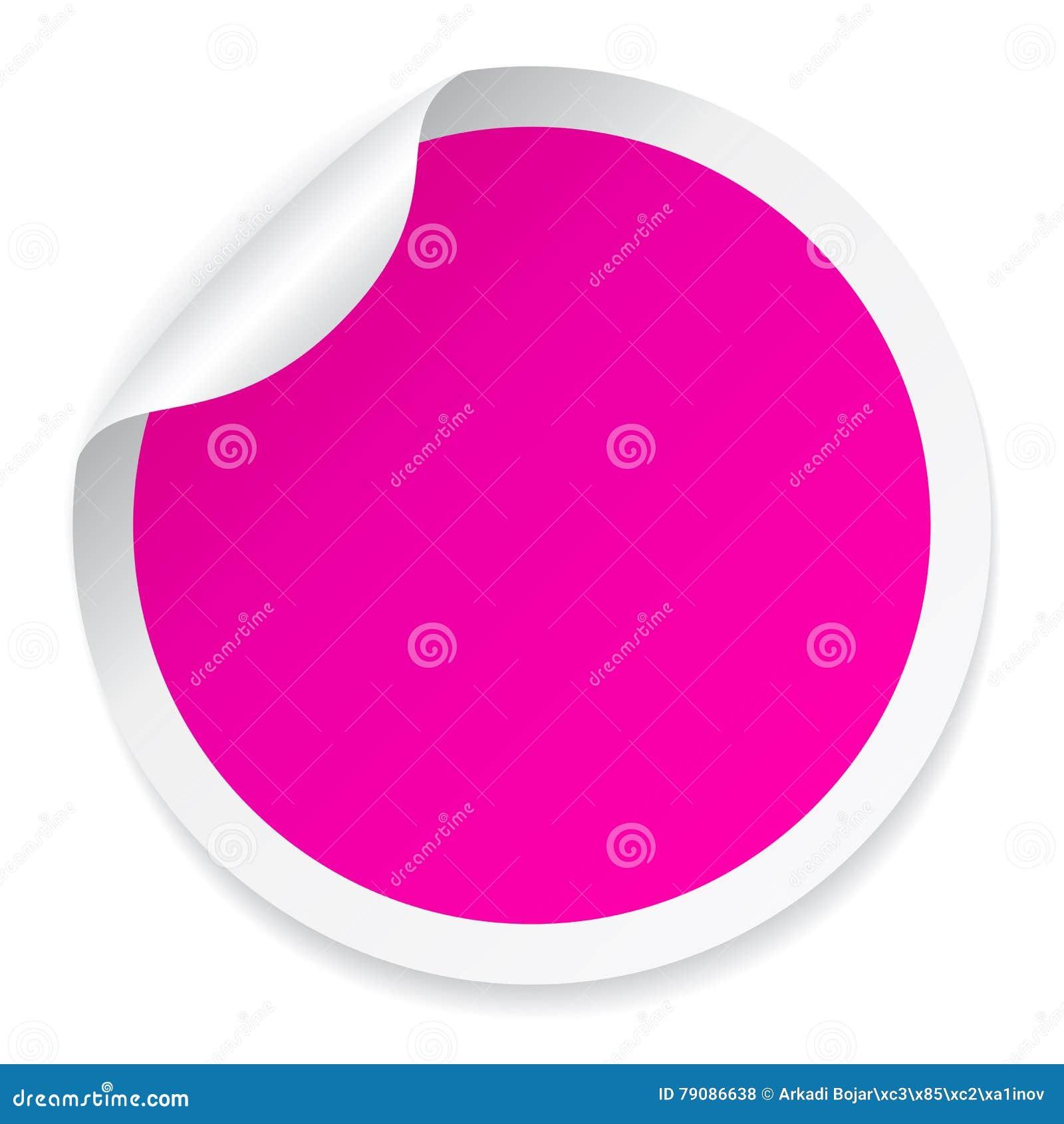 Pink round sticker