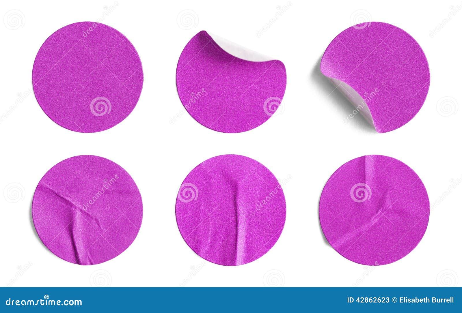 Pink Round Stickers