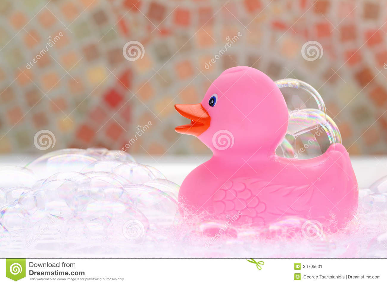 Pink Rubber Duck Stock Image Image 34705631