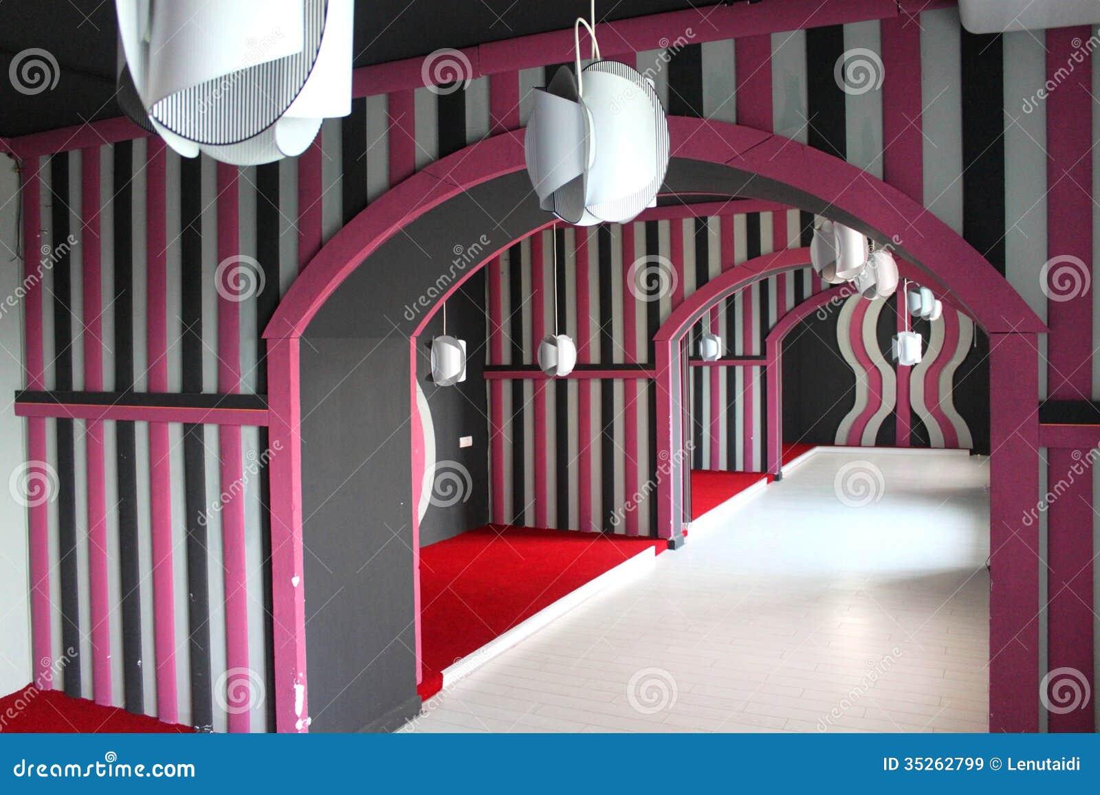Pink salon renovation stock image image of architectural for Salon renovation