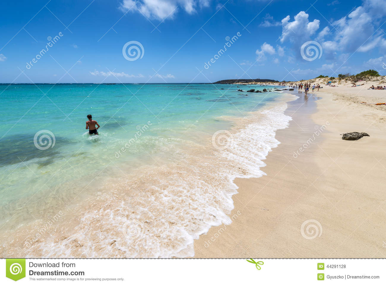 Pink Sand Beach Of Elafonissi Editorial Stock Photo Image