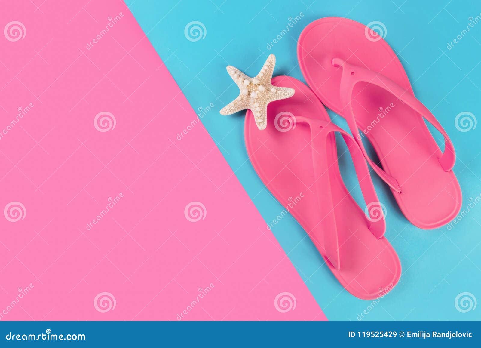 557887ffc3e7 pink-sandal-flip-flops-starfish-blue-pink -abstract-pastel-background-femininity-girl-pink-sandal-flip-flops -119525429.jpg