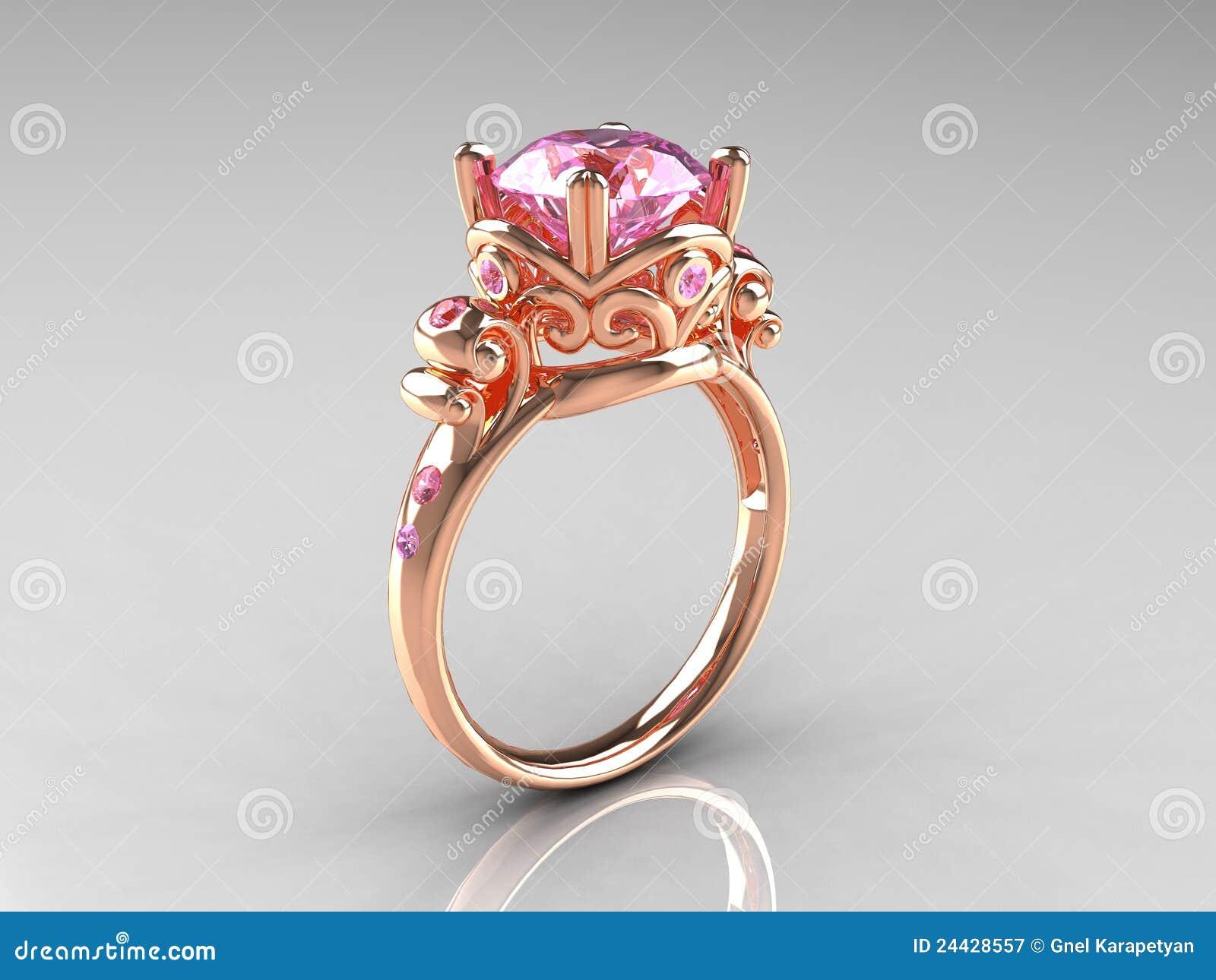 Promesas de amor Pink-sapphire-rose-gold-vintage-engagement-ring-24428557