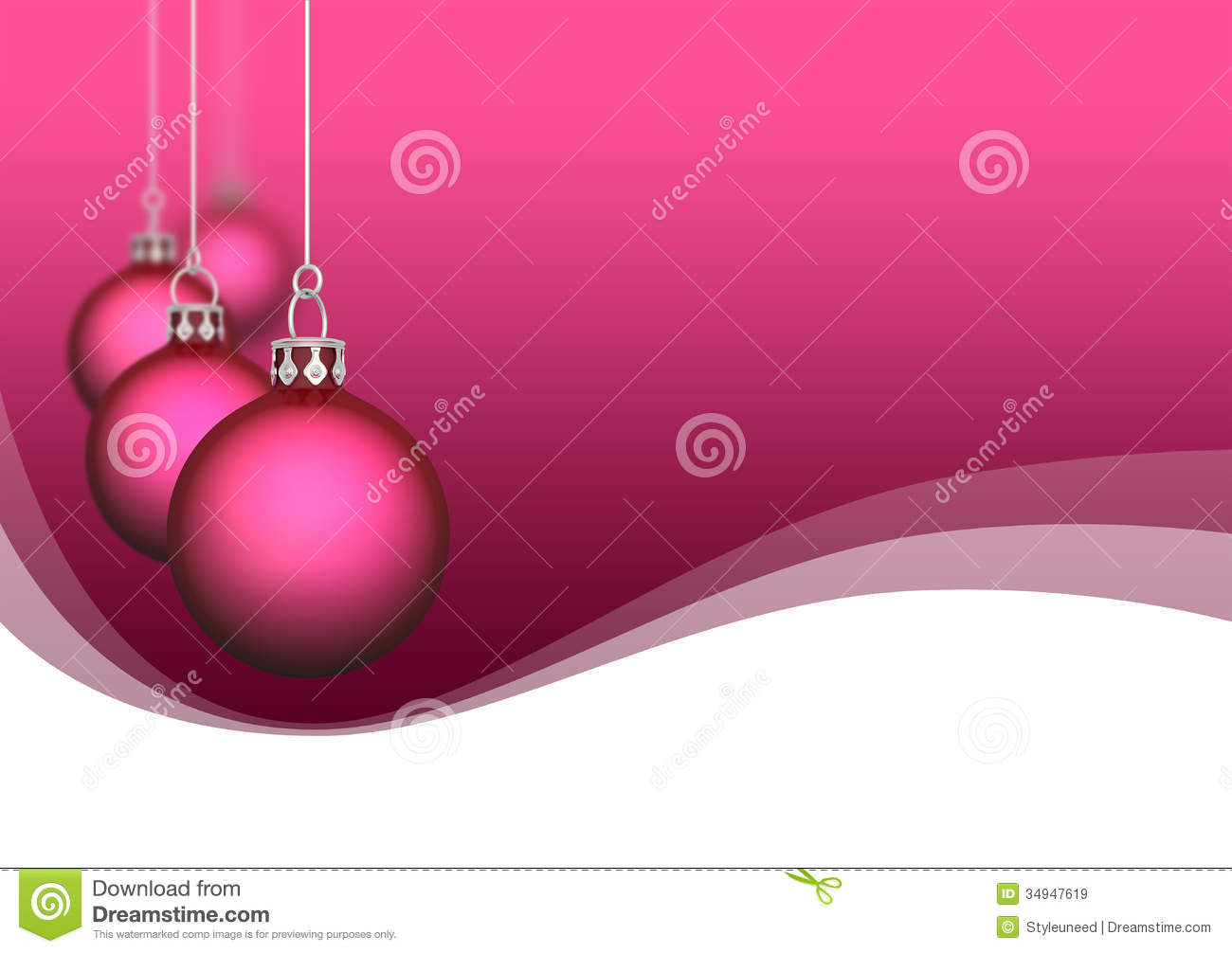 Royaltyfree Stock Photo Download Pink Satin Christmas Ornaments