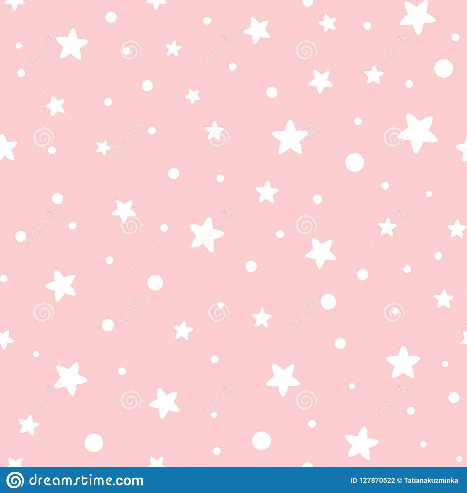 Pink Seamless Pattern Stars Geometric Pink Ornamental Background Baby Shower Sweet Girl Background Stock Vector Illustration Of Invite Cloth 127870522