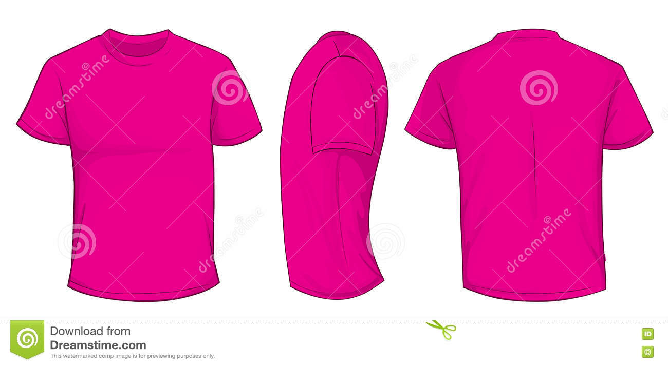 Pink shirt template stock vector image of casual for Pink t shirt template