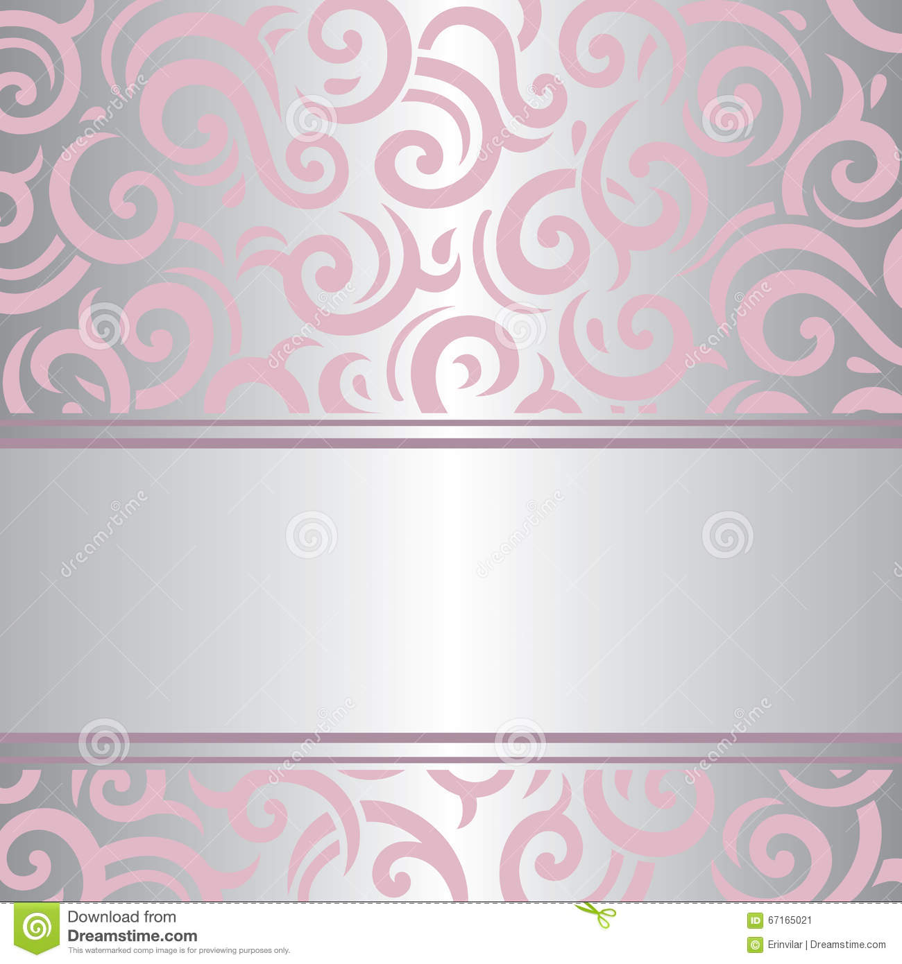 Pink silver invitation vintage retro vector wallpaper for Pink and silver wallpaper