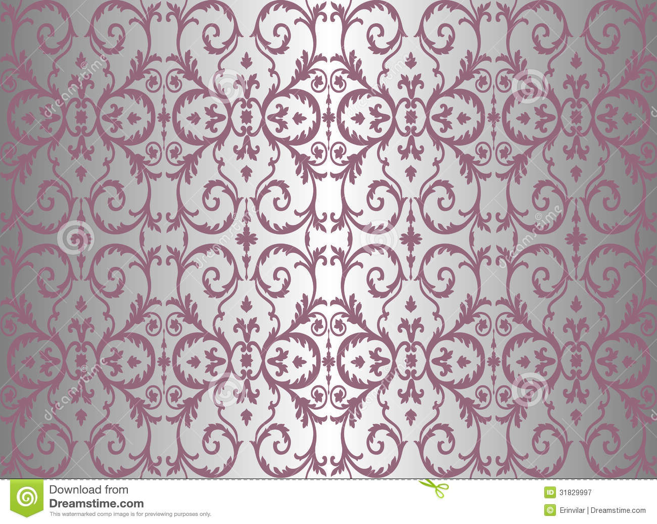 Pink silver vintage wallpaper stock vector for Papel pintado vintage