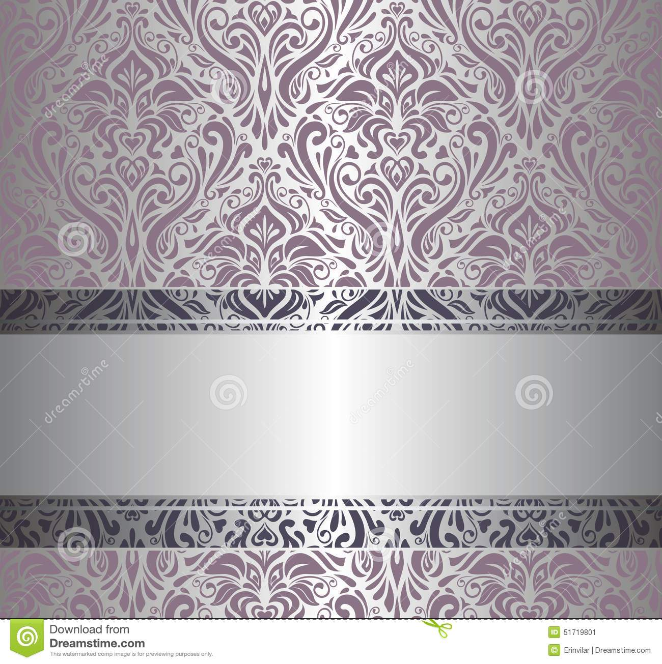 Pink silver vintage wallpaper stock vector image 51719801 for Pink and silver wallpaper