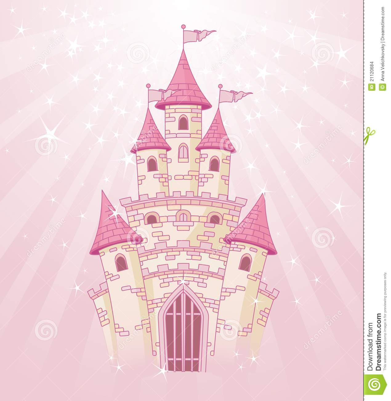 Pink Sky Castle Stock Images - Image: 21120684