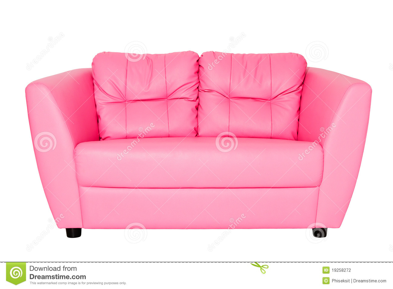 pink sofa stock photo image of isolated page fashionable 19258272. Black Bedroom Furniture Sets. Home Design Ideas