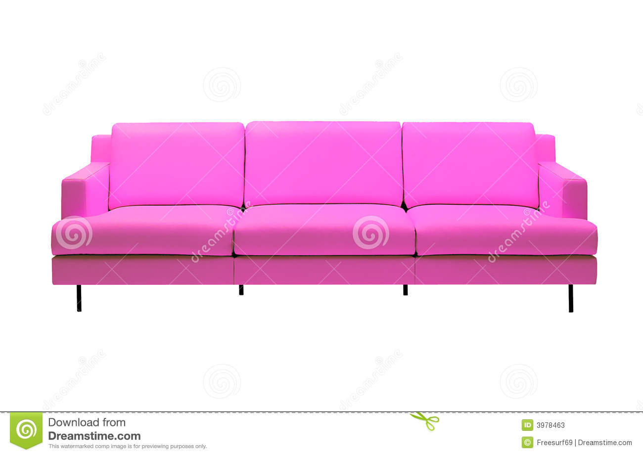 Pink Sofa 2 Stock Photos Image 3978463