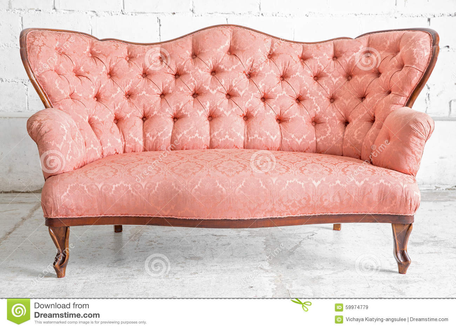Vintage Pink Sofa