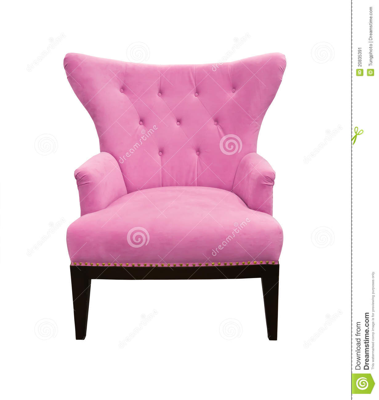 Pink Sofa Isolated Stock Image Image 20835391