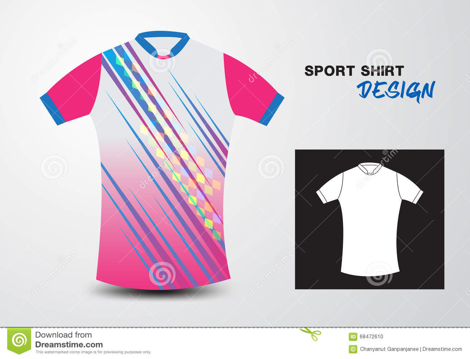 Pink Sport Shirt Design Vector Illustration Stock Vector - Image ...