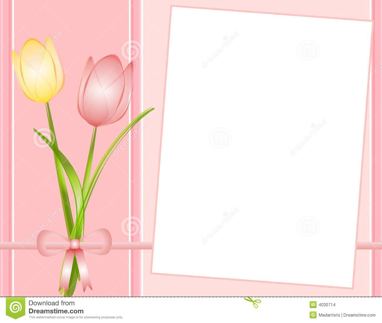 Pink Spring Tulips Note Paper Background