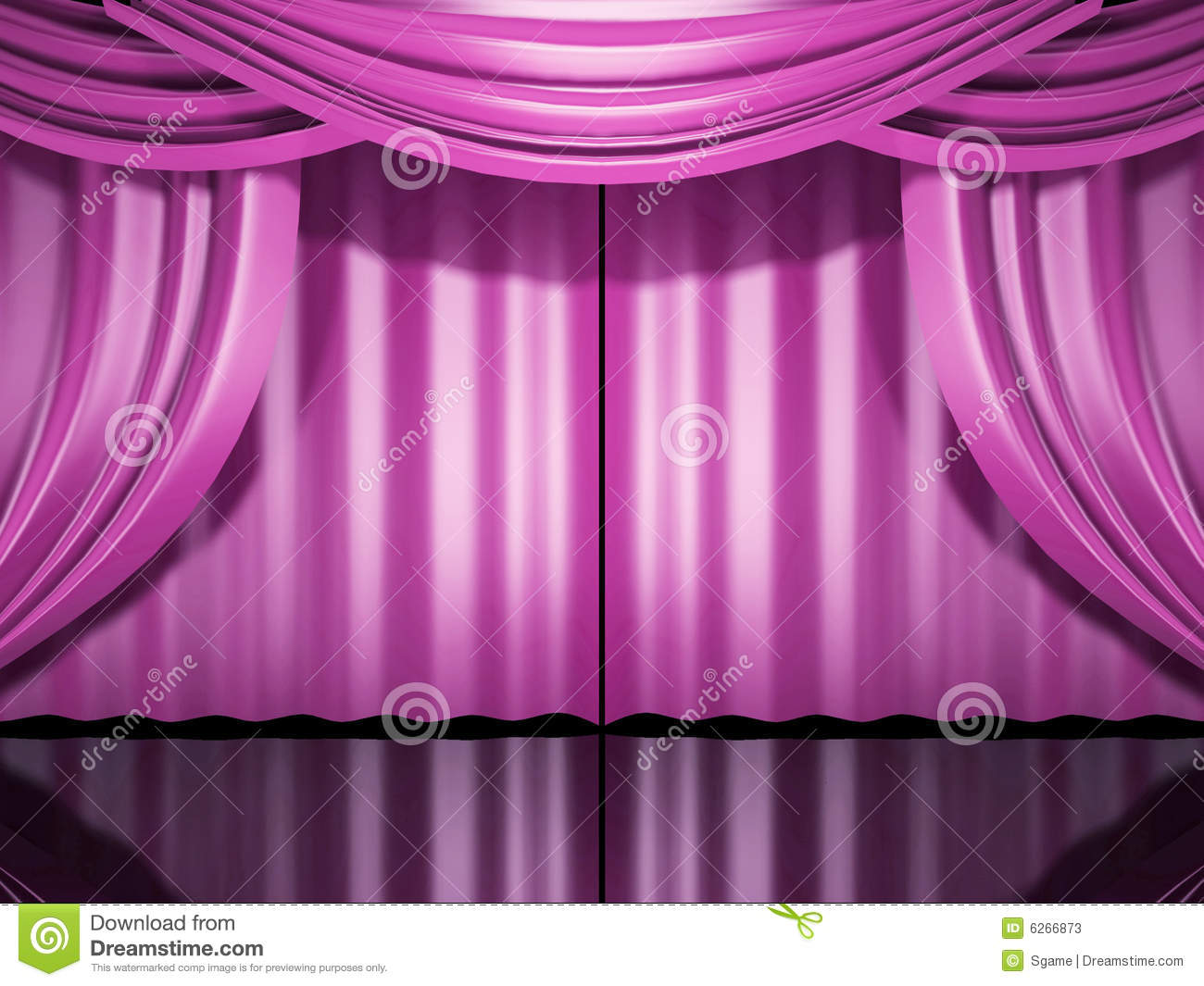 Pink stage drapes stock illustration. Illustration of polaroid - 6266873 for Pink Stage Curtains  181pct