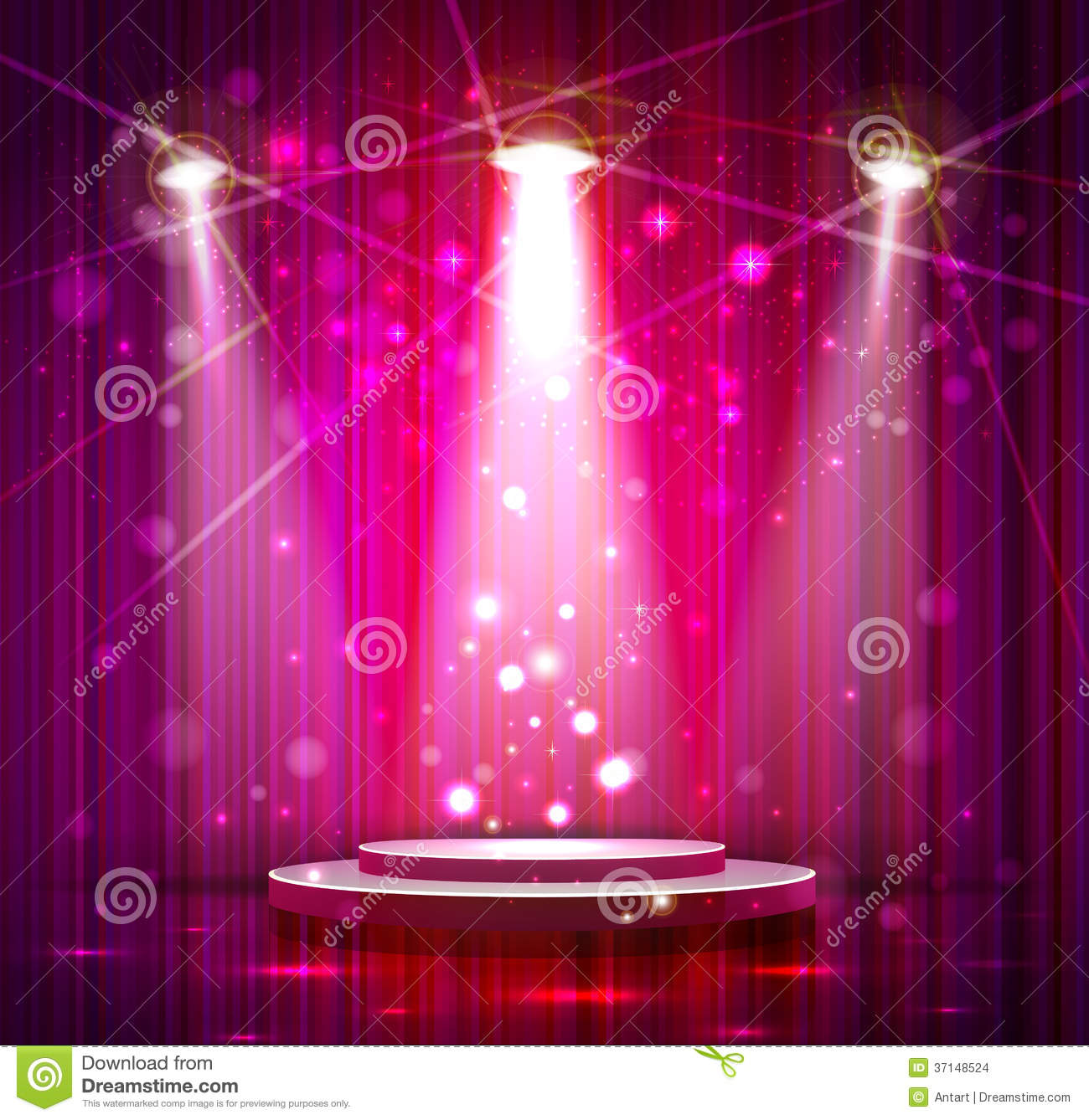 pink stage stock images image 37148524