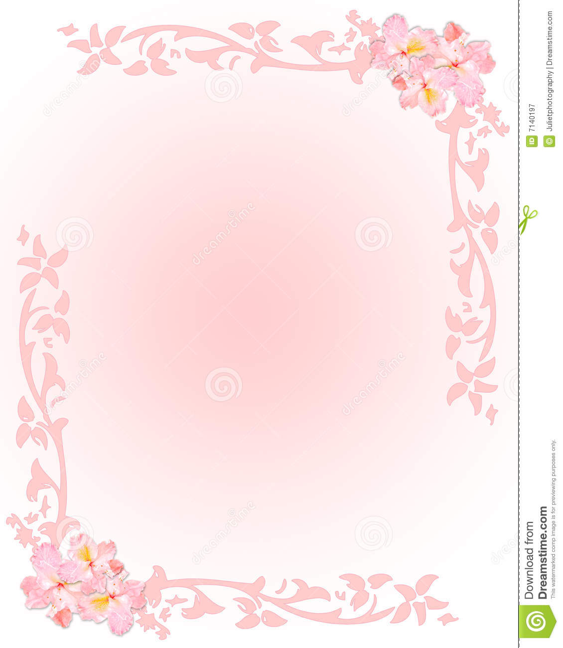 Floral letter writing paper