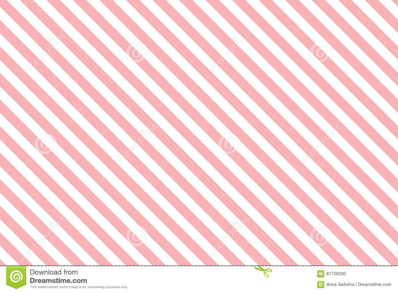 Pink Stripes On White Background Stock Vector