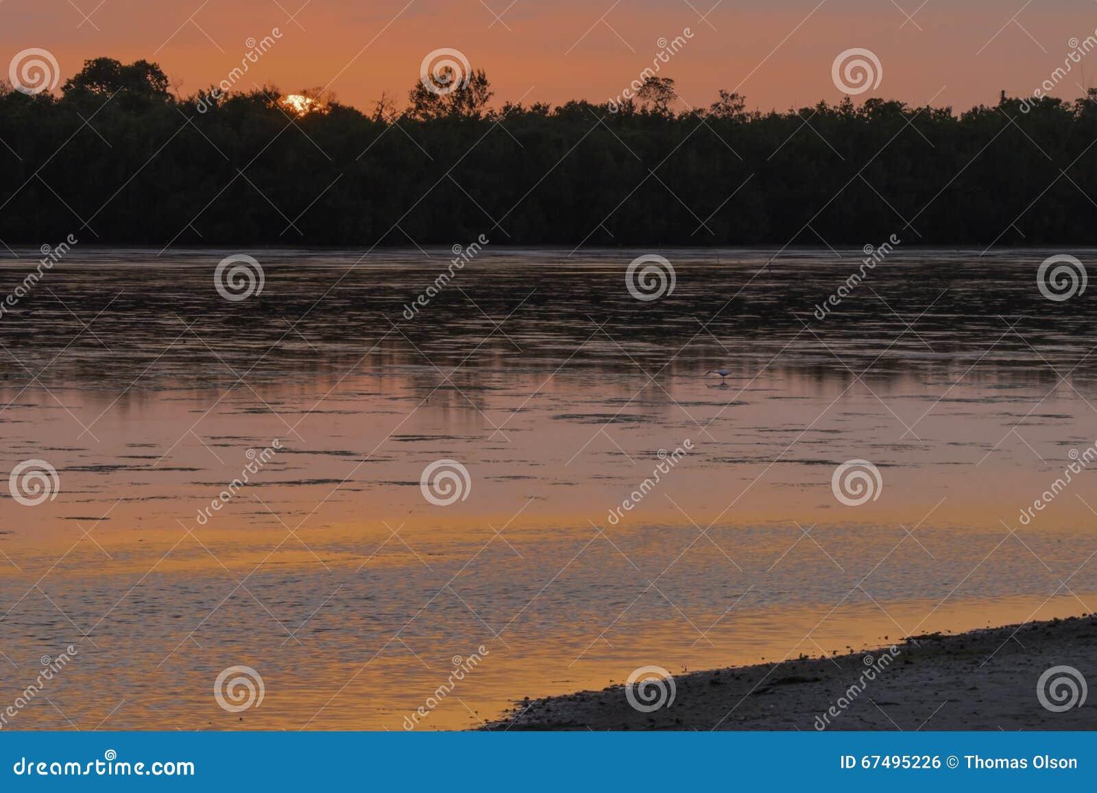Pink Sunset at Ding Darling Wildlife Refuge