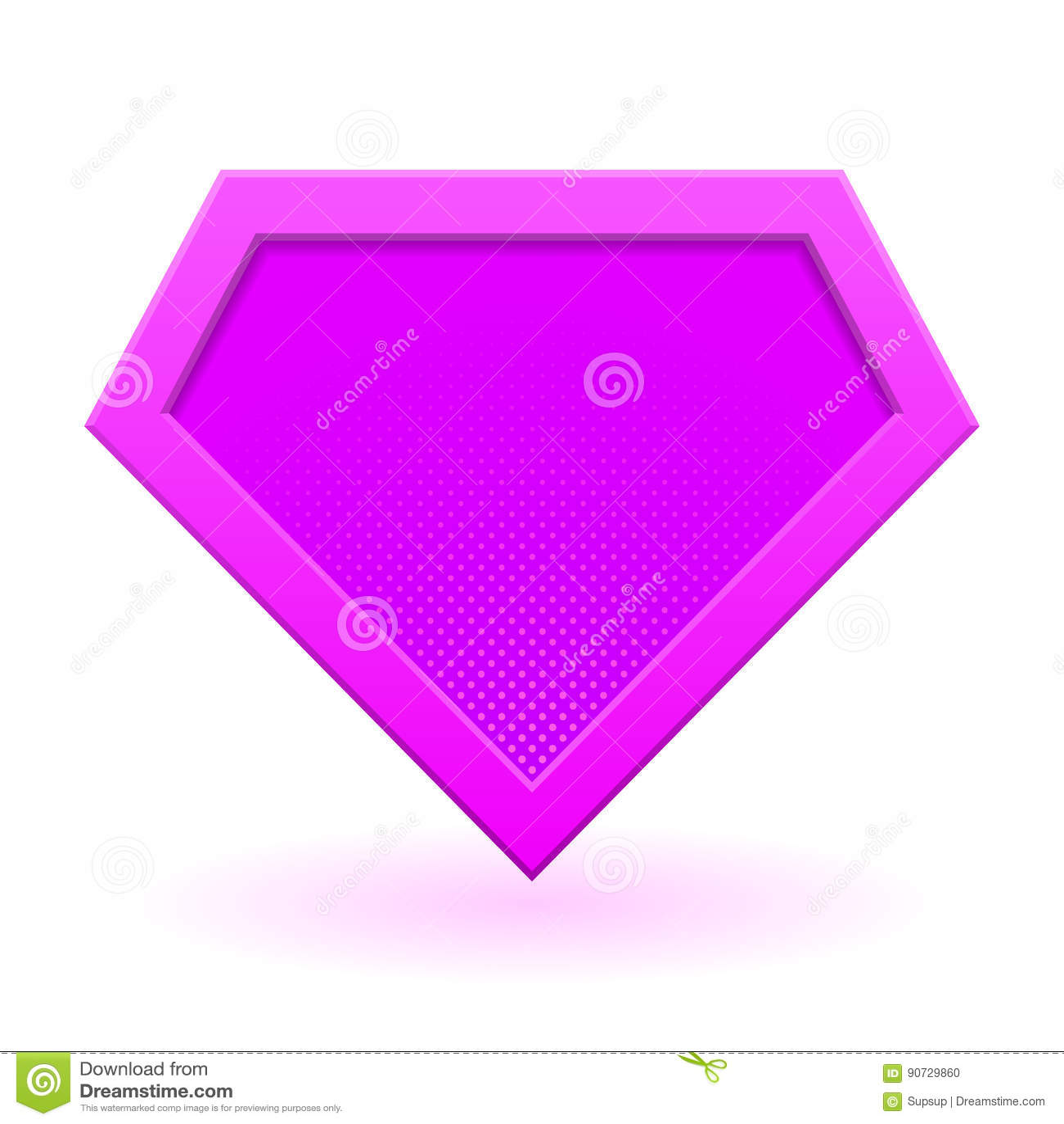 pink superhero logo stock vector illustration of dots 90729860