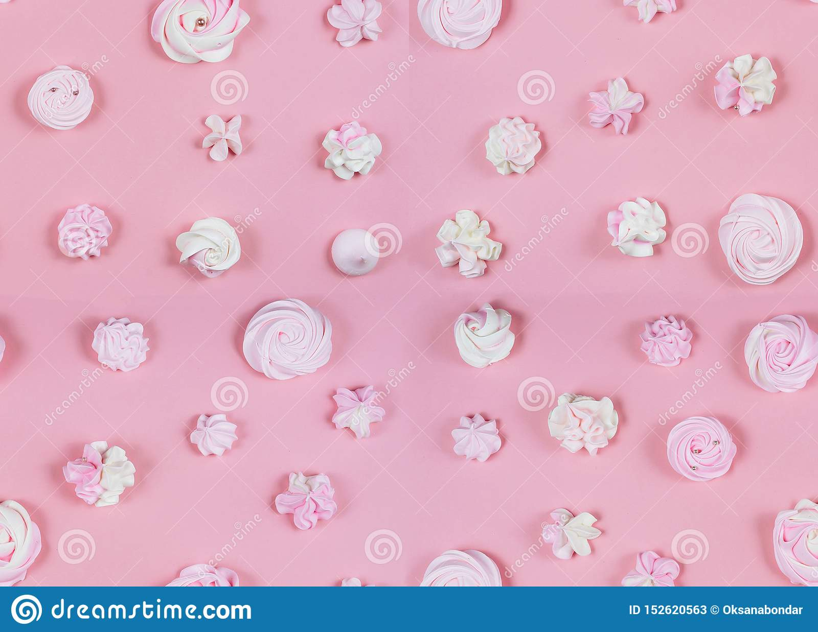 Pink Sweet Pattern Birthday Party Pastel Flat Lay