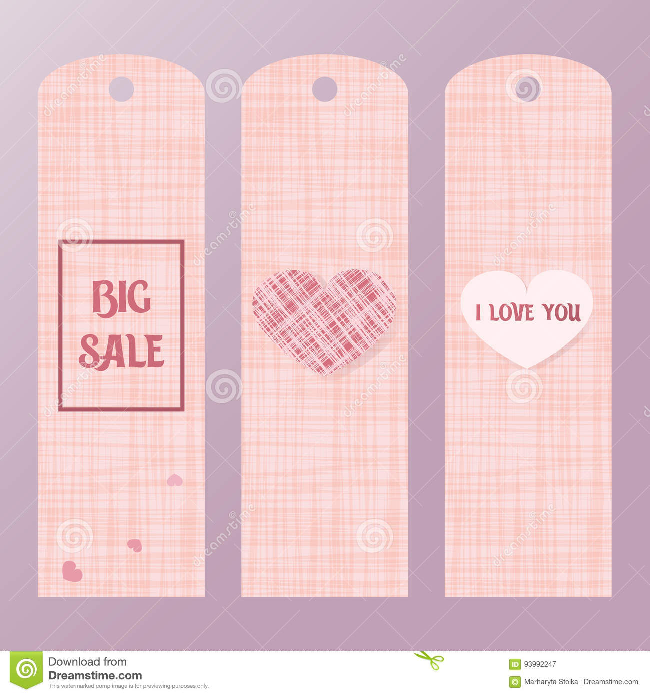 Pink tag for big sales with a heart. Label the price of goods pink colors.