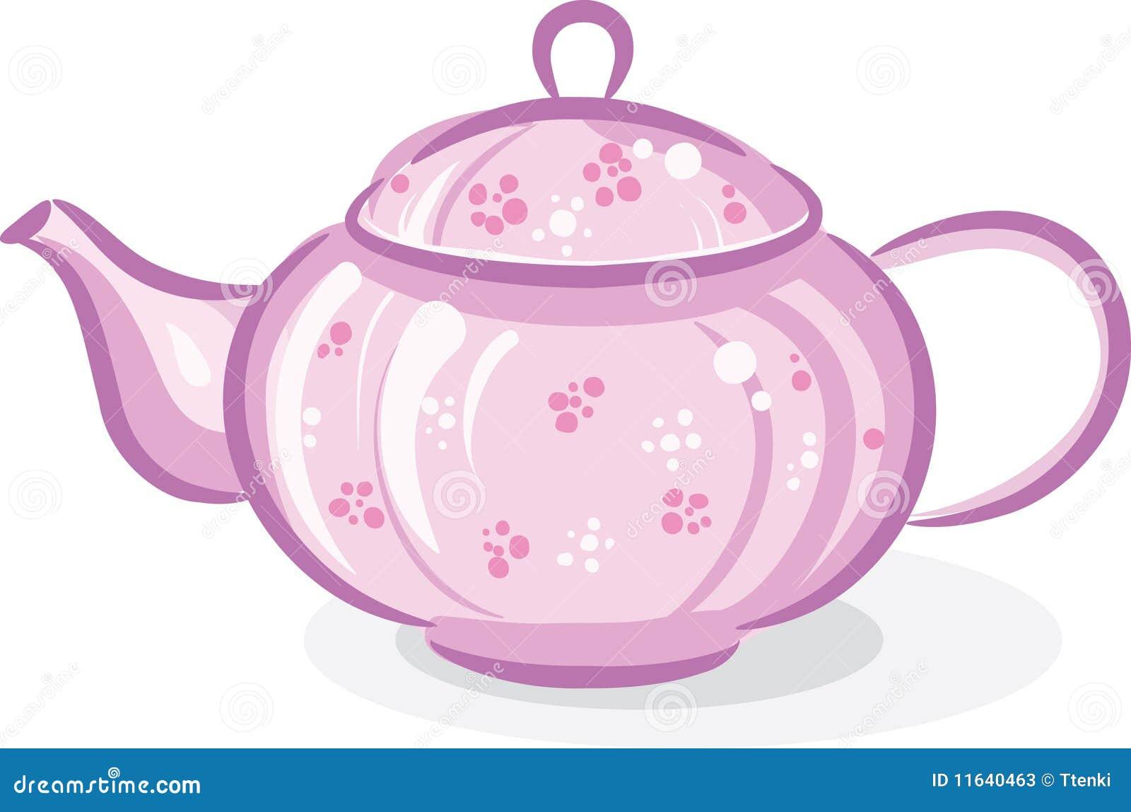 Pink Teapot Stock Vector Illustration Of Teapot