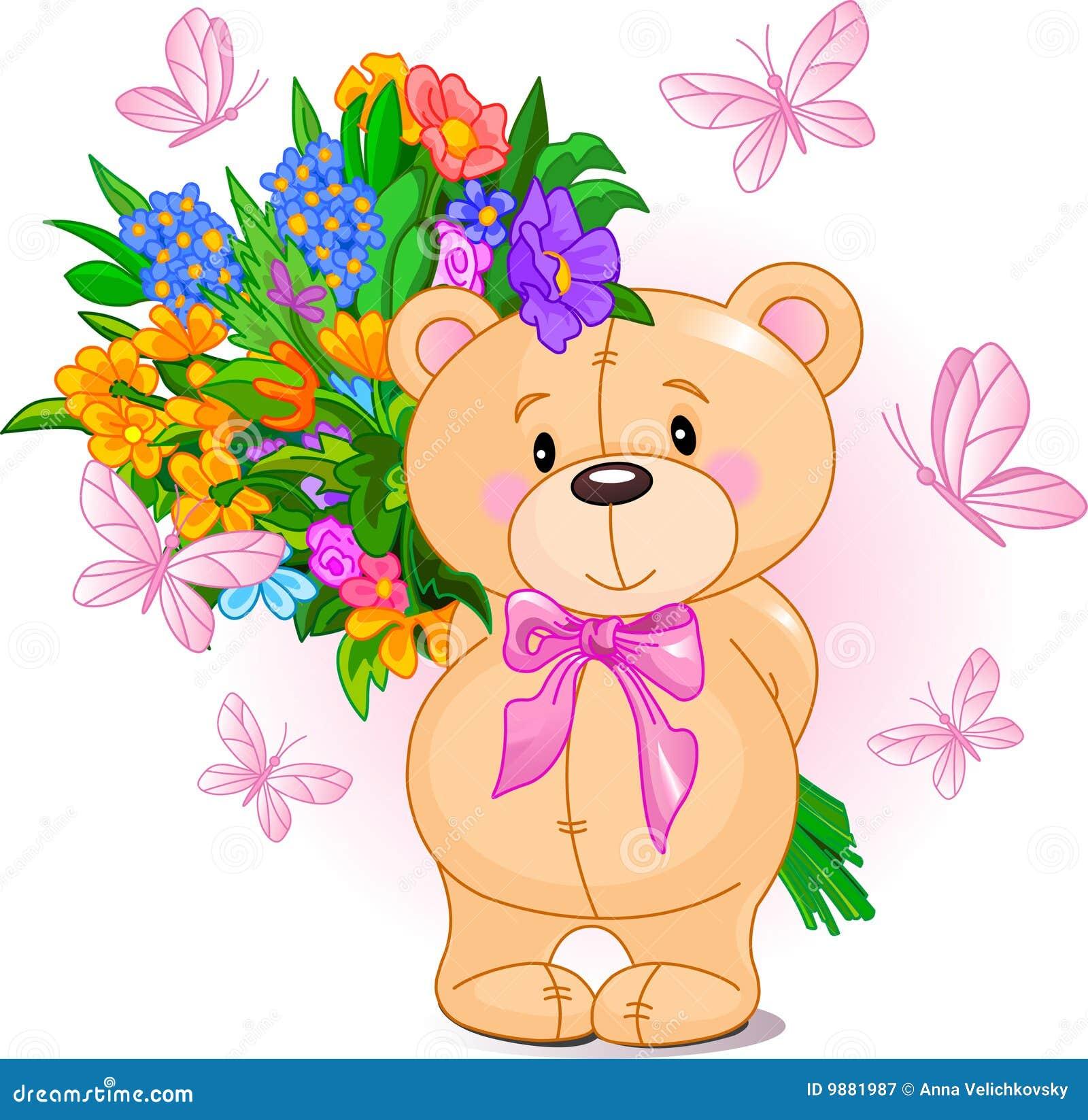Pink Teddy Bear stock vector. Illustration of cheerful ...
