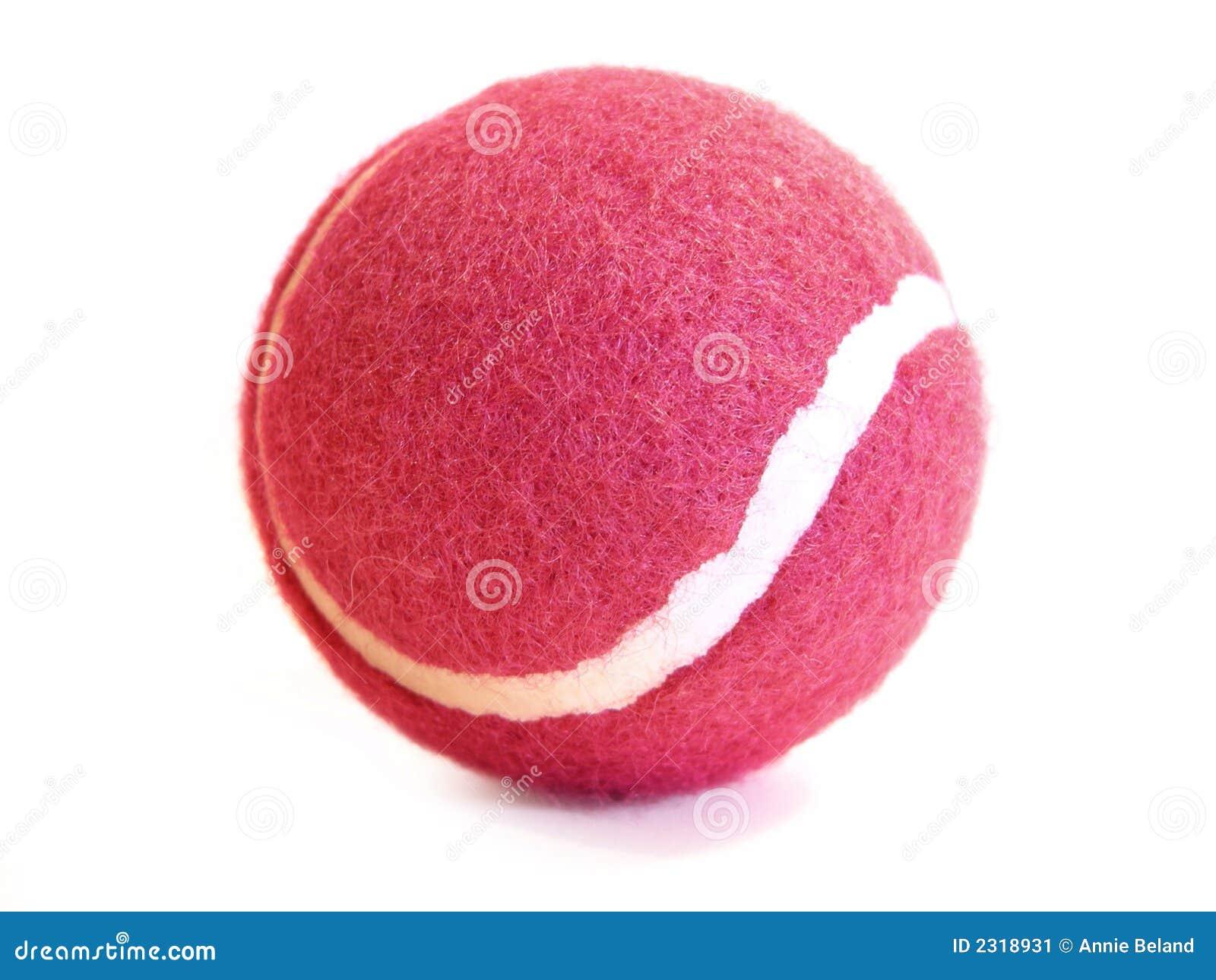 pink tennis ball stock image image 2318931