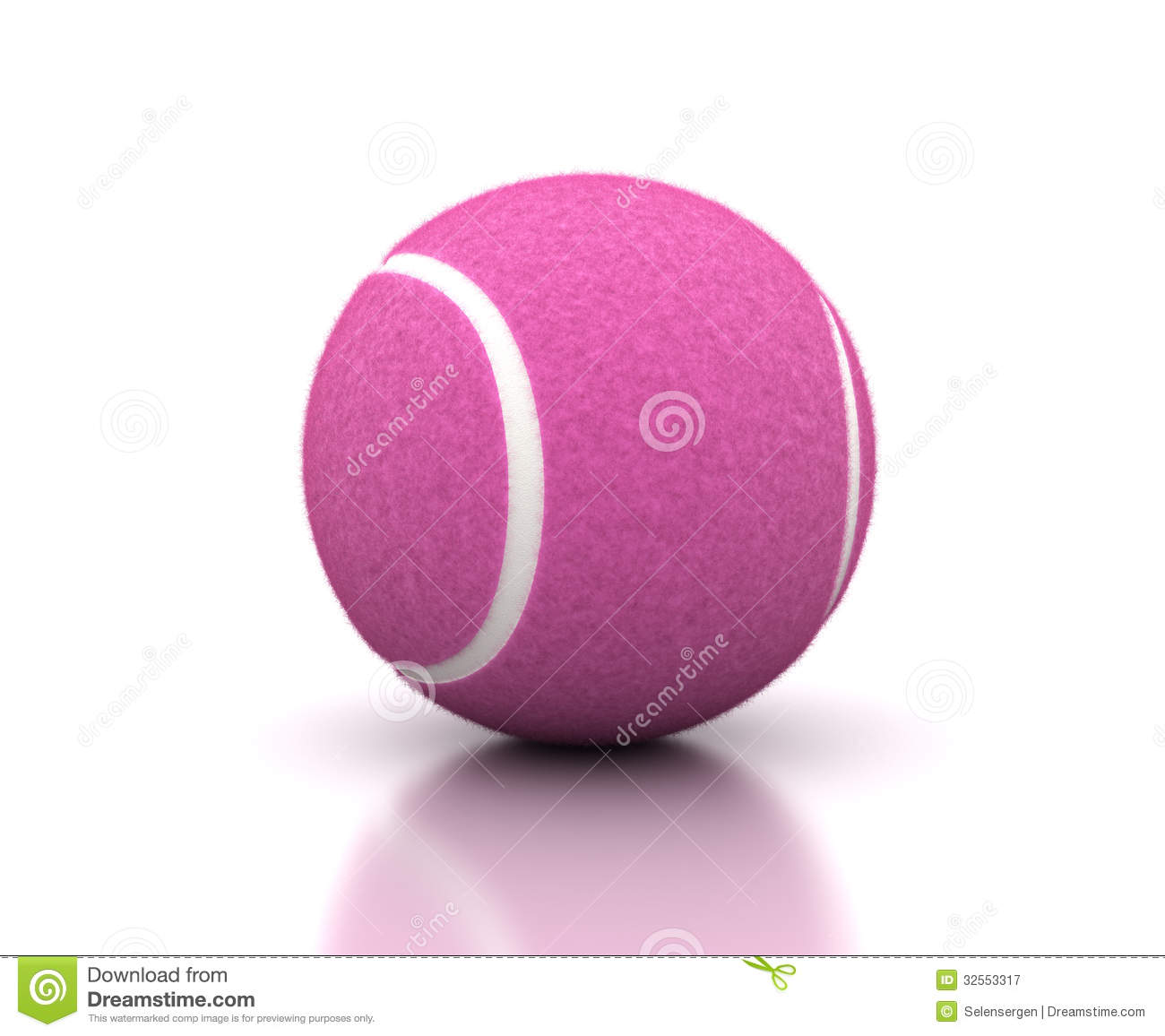 Pink Tennis Ball stock illustration. Illustration of game ...
