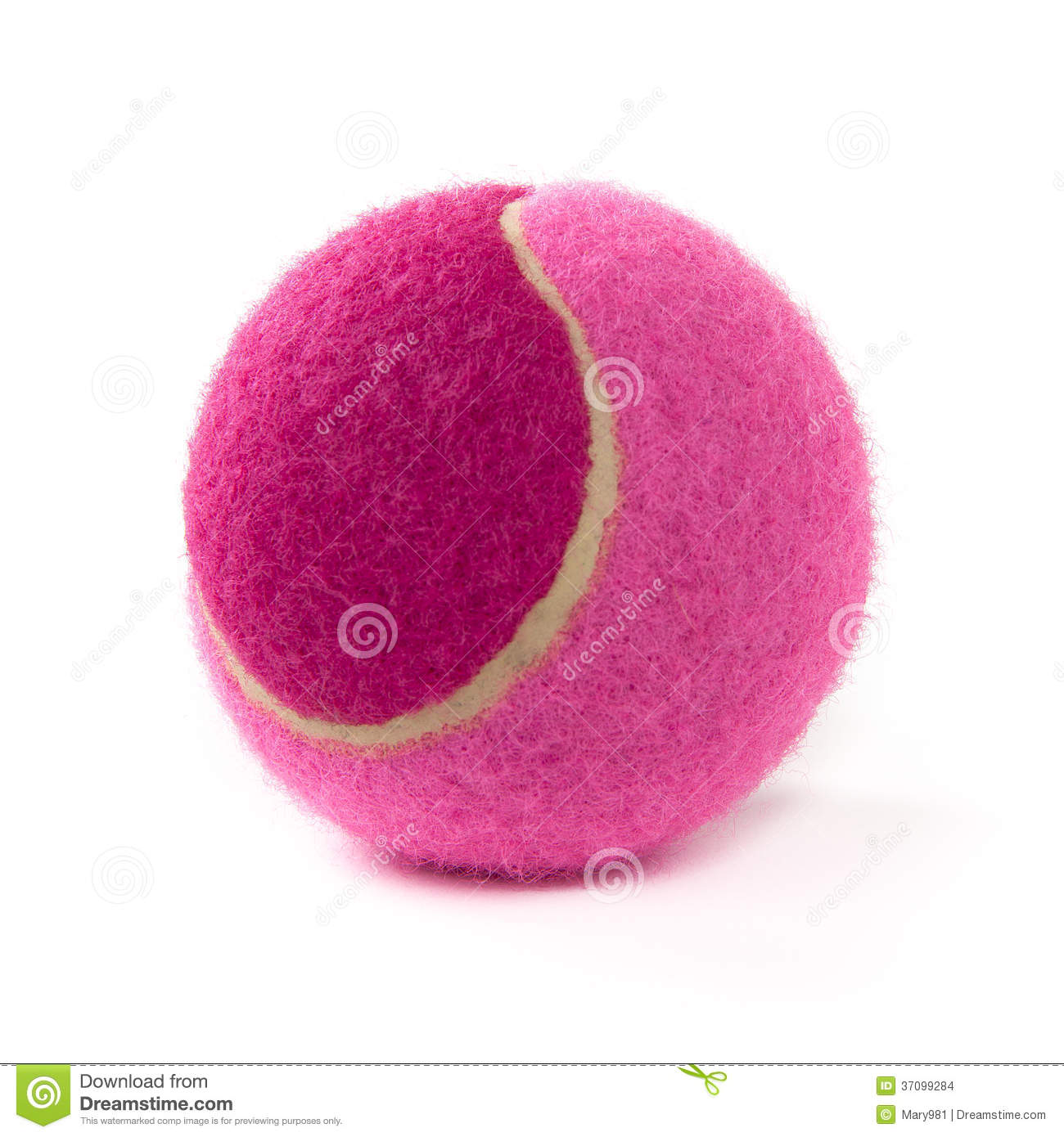 Pink Tennis Ball Stock Images - Image: 37099284