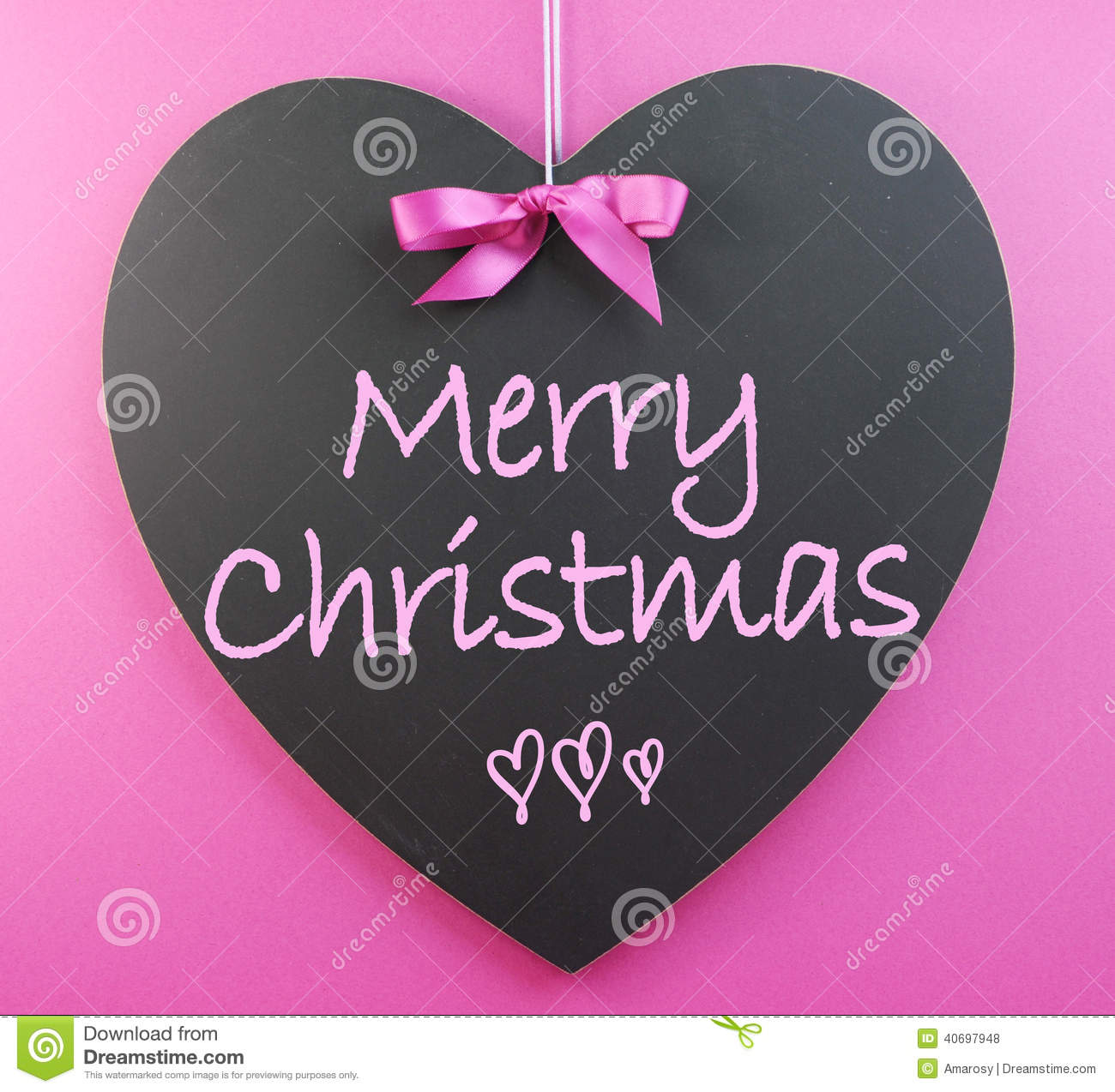 Pink Theme Merry Christmas Message Stock Photo - Image: 40697948