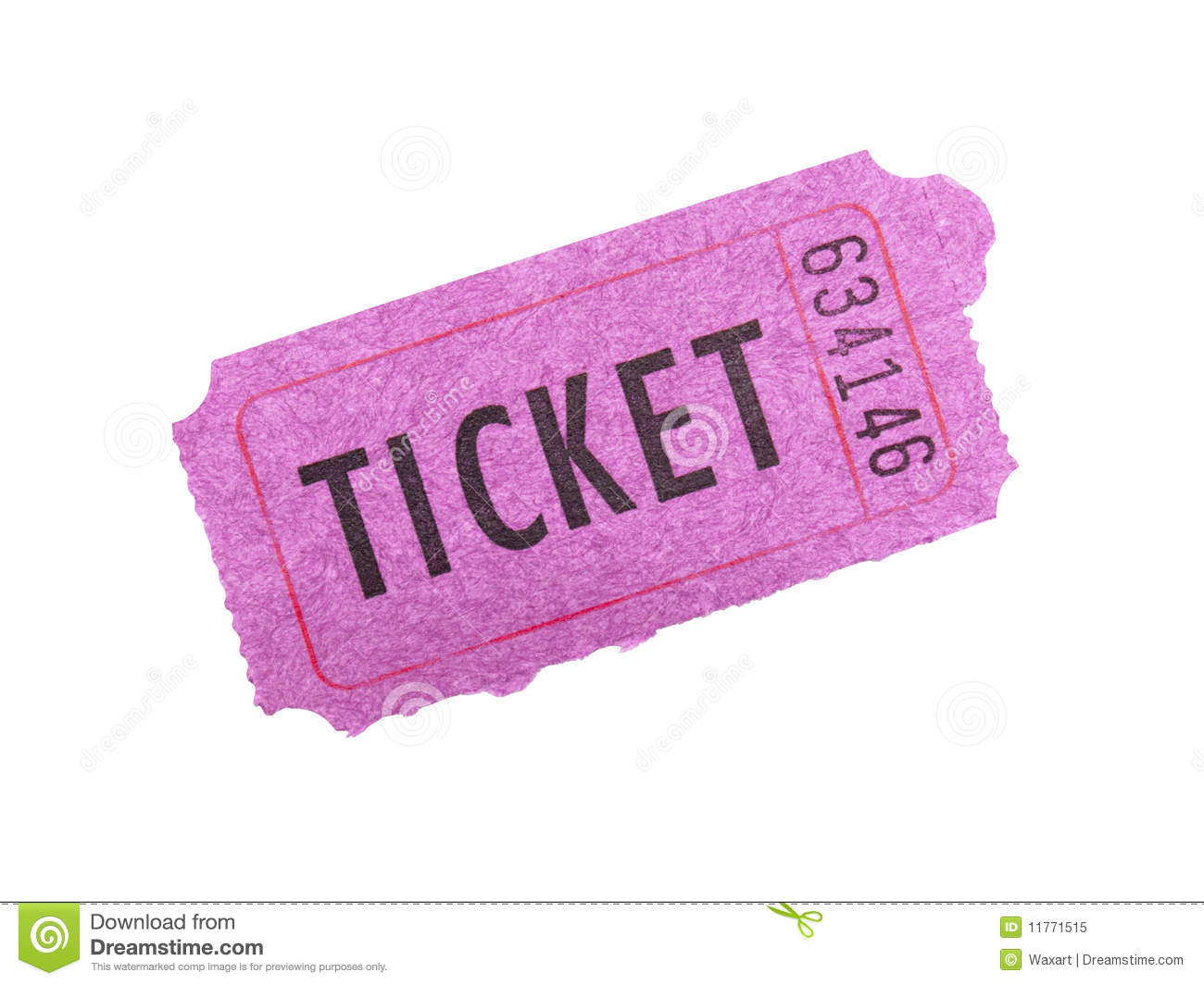 pink ticket on white background royalty stock photo image pink ticket on white background