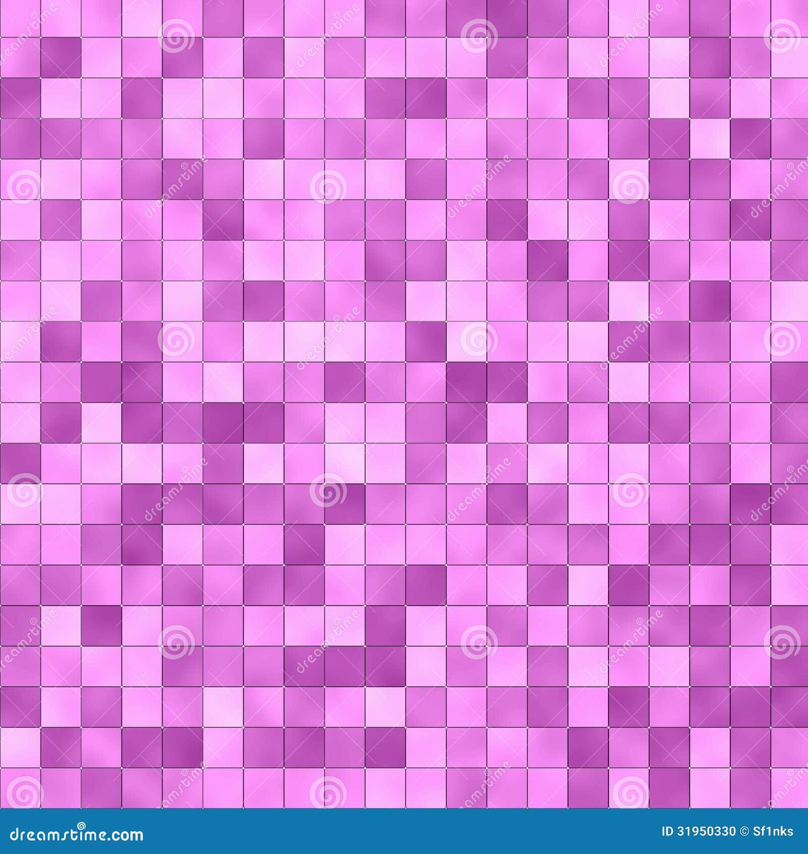 Unique Seamless Pink Tiles Texture Background Kitchen Or Bathroom Concept
