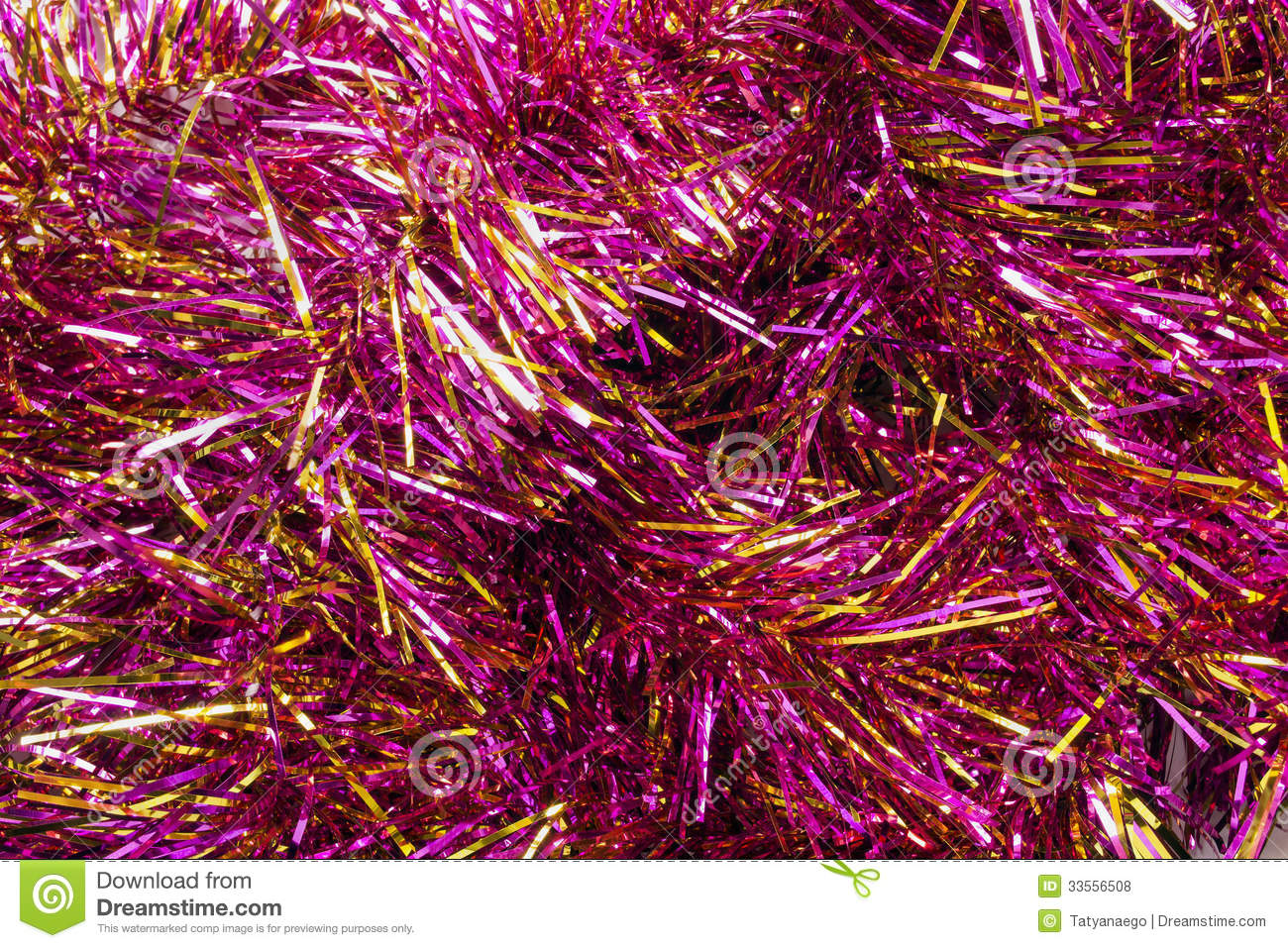 Pink tinsel stock photo image of season glitter concept
