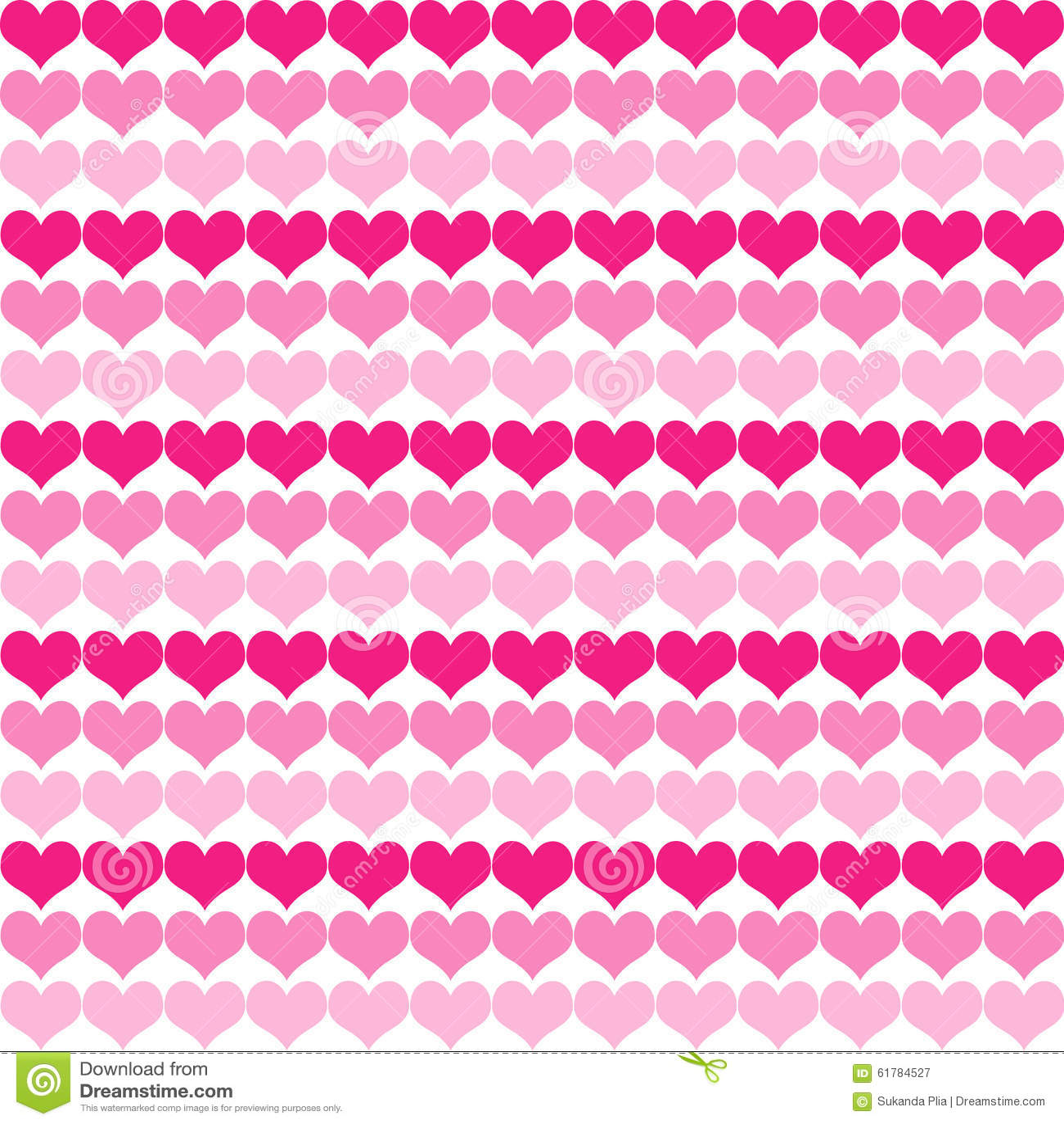 Pink Tone Little Heart Pattern Background