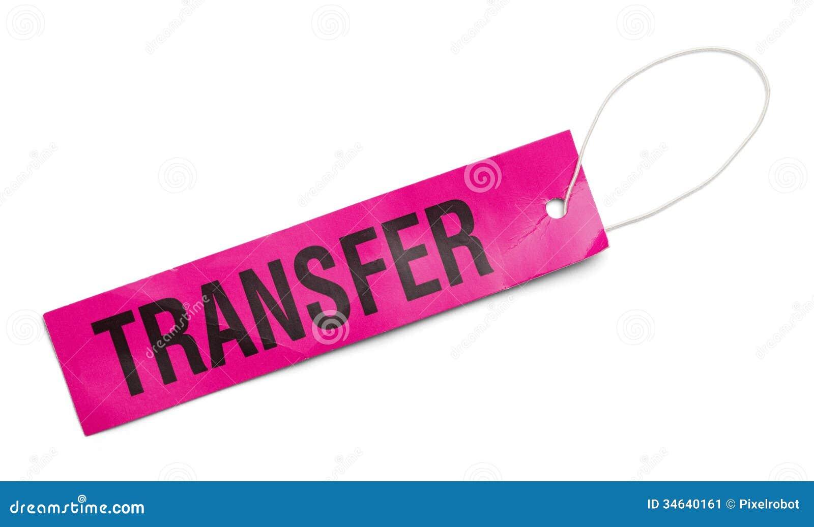 Pink Transfer Tag Stock Image Image 34640161