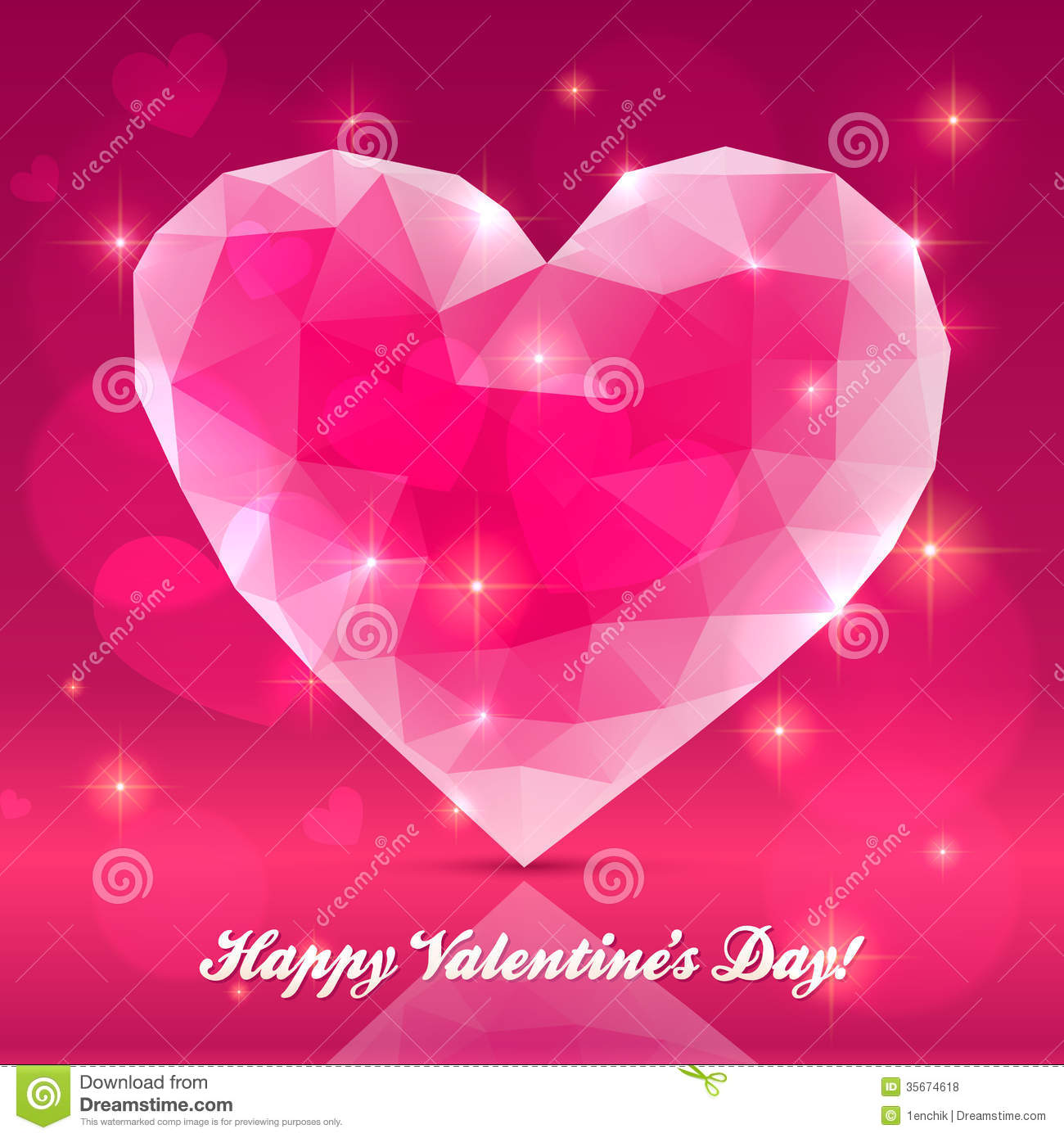 Royalty Free Stock Photos Pink Transparent Crystal Heart Vector Greeting Card Image35674618 on Diamond Transparent Icon