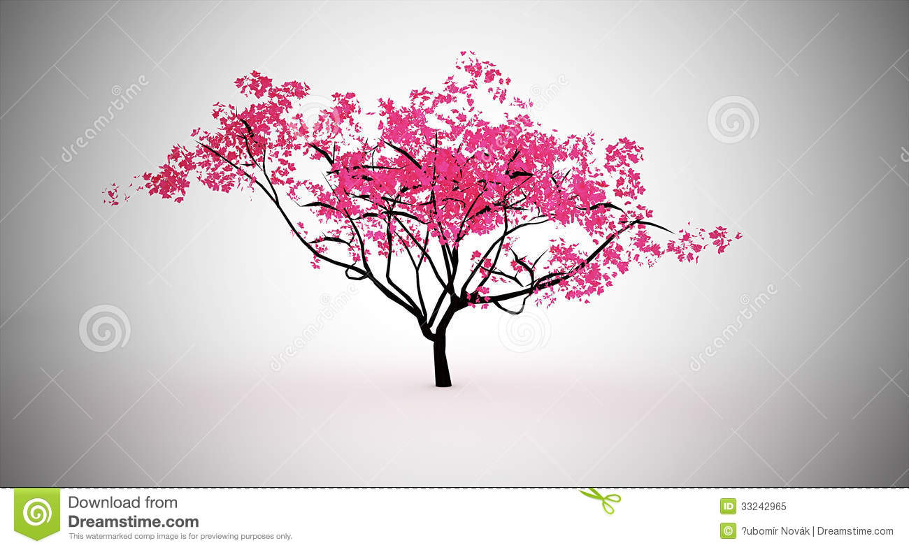 Pink tree royalty free stock photo image 33242965 for Pink small tree
