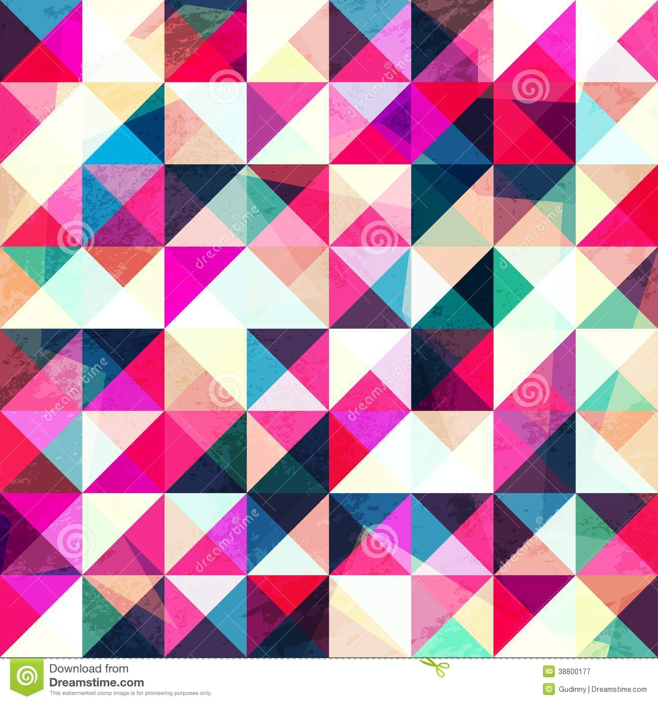 pink triangle seamless pattern stock vector illustration of figure